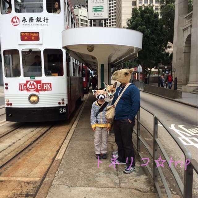 香港トラムに乗ります