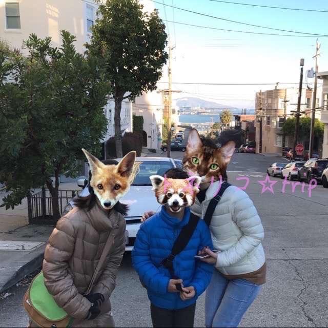 サンフランシスコの坂道を歩く