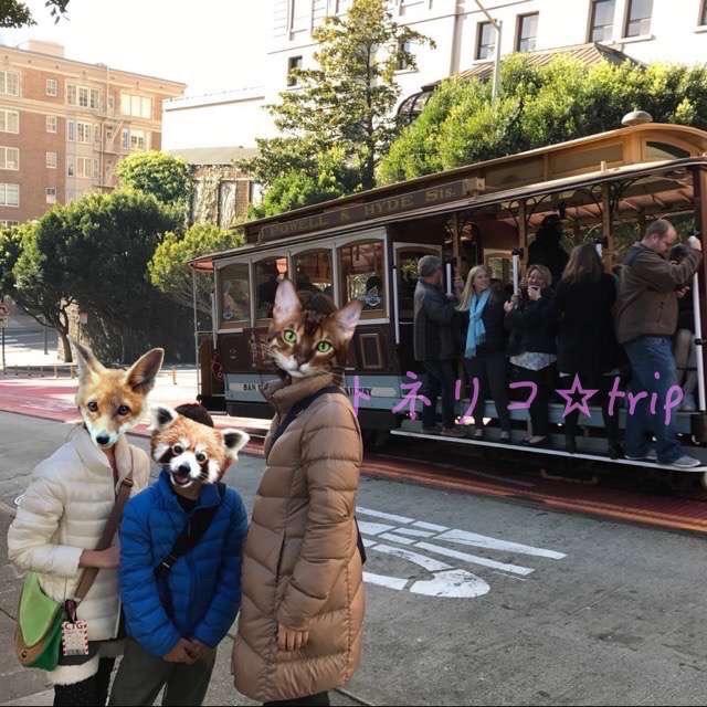 サンフランシスコでケーブルカーに乗る