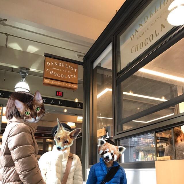 サンフランシスコのダンデライオンでホットチョコレートを注文