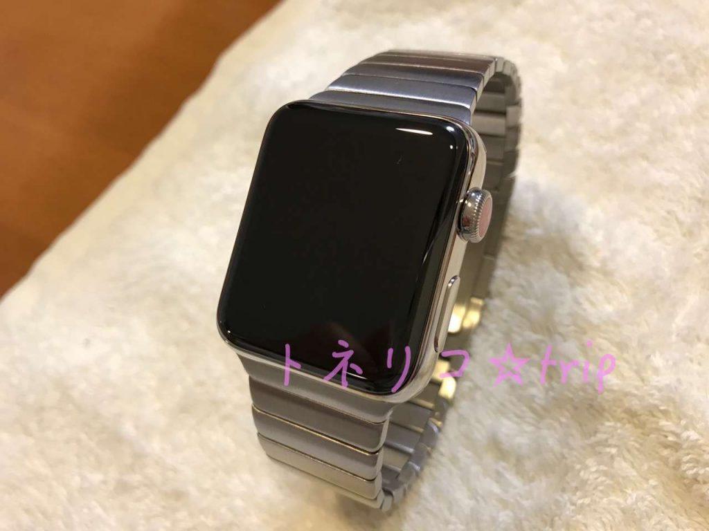 Apple Watch リンクブレスレットに交換完了