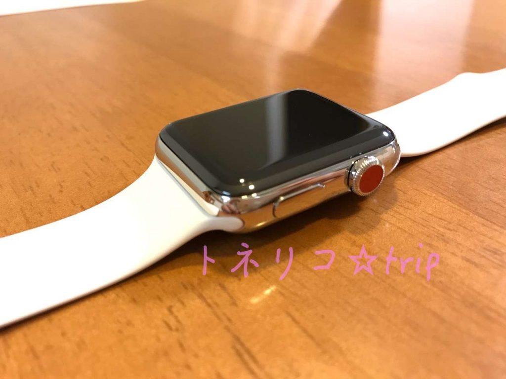 Apple Watch Series3 GPS+Cellularモデル ソフトホワイトスポーツバンド 48mm