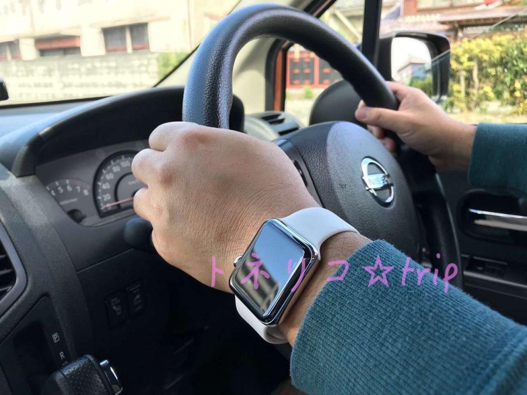 Apple Watch スポーツバンドホワイト お父さん