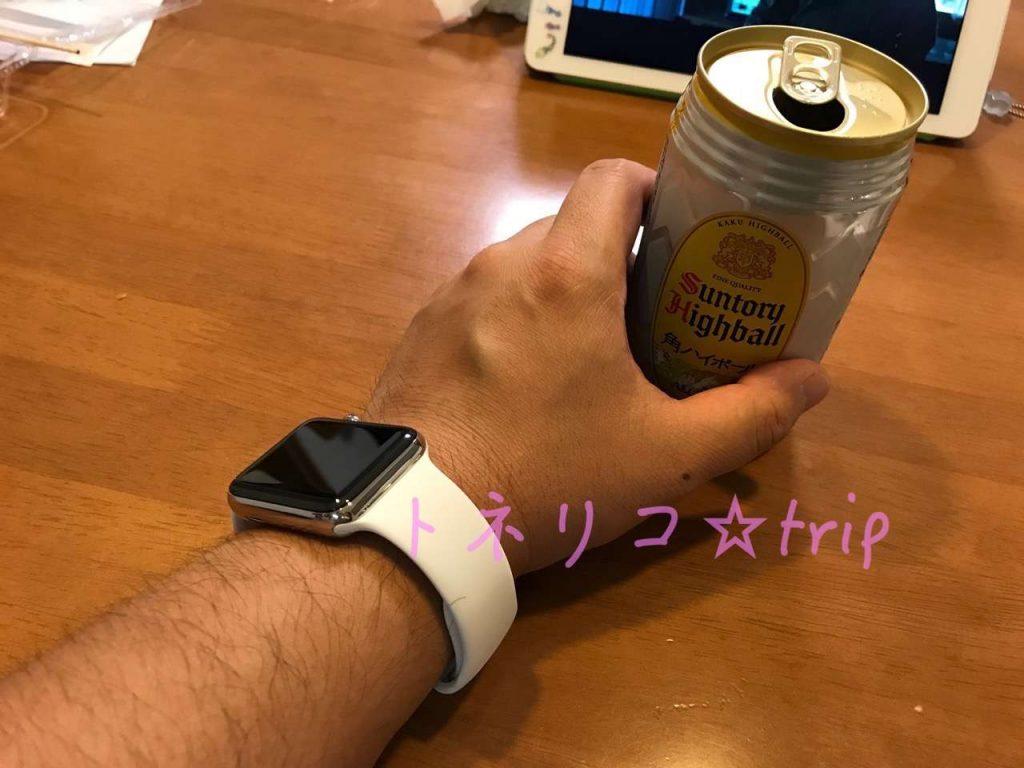 お酒とおっさんとApple Watch series3 ホワイト