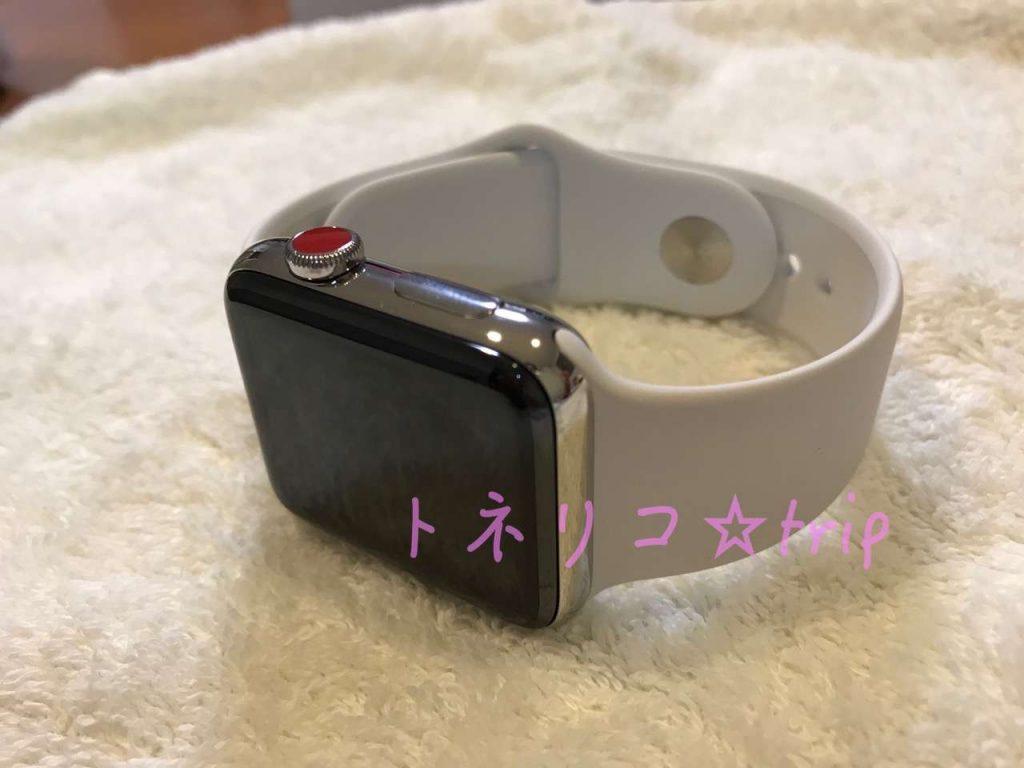 Apple Watch3 スポーツバンド セルラーモデル ステンレス本体