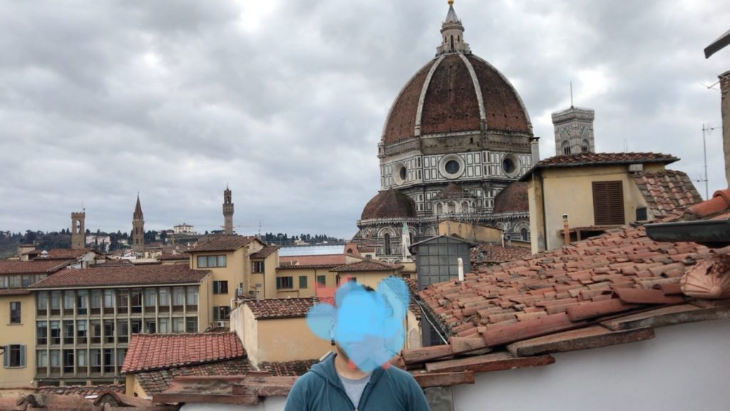 airbnbフィレンツェ ドゥオモがベランダから見えます