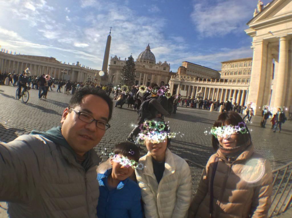 サン・ピエトロ広場に到着しました