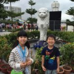 【シンガポール 家族旅行記#7】マーライオン、ちっこい