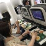 【ナイアガラ 家族旅行記#01】エバー航空(EVA AIR)のフルーツミール