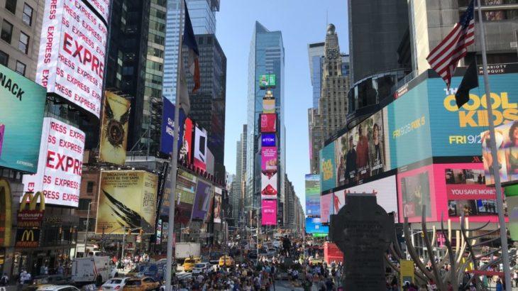 【ニューヨーク 家族旅行記#12】タイムズスクエア!!!