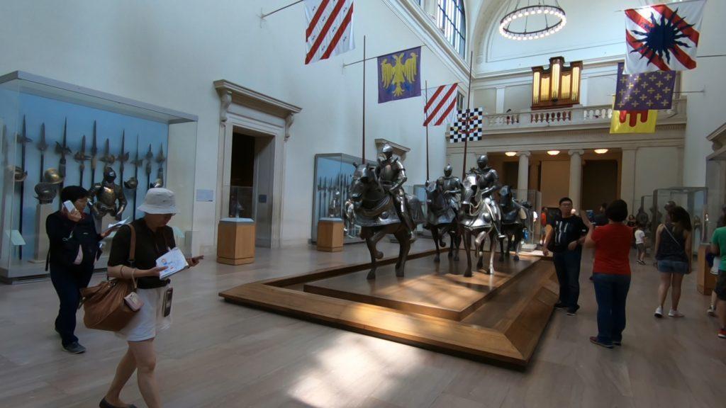 メトロポリタン美術館の武器コーナー