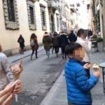【フィレンツェ  家族旅行記#20】ジェラート食べ食べお散歩
