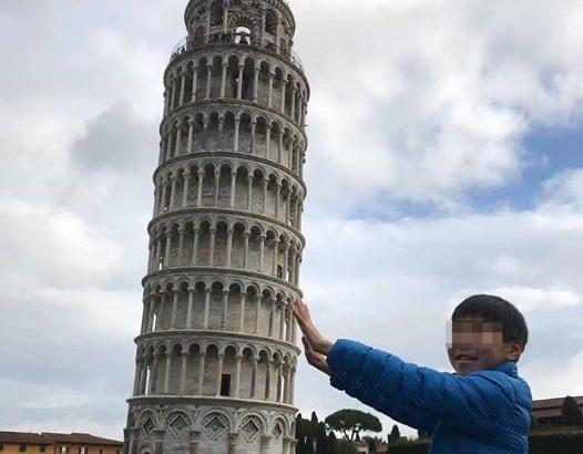 【フィレンツェ  家族旅行記#23】ピサの斜塔のインスタスポット