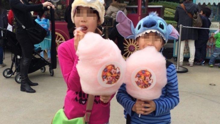 【香港  家族旅行記#10】香港ディズニーでコットン キャンディです