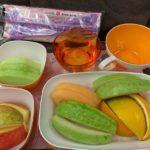 【パリ家族旅行ヒント#02】エバー航空はフルーツミールがおすすめ